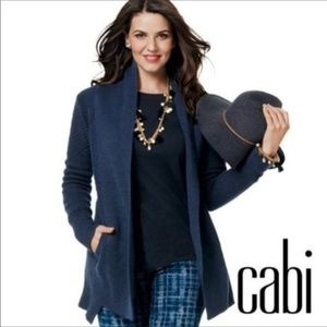 CAbi Countryside Cable Knit Navy BLue Sweater